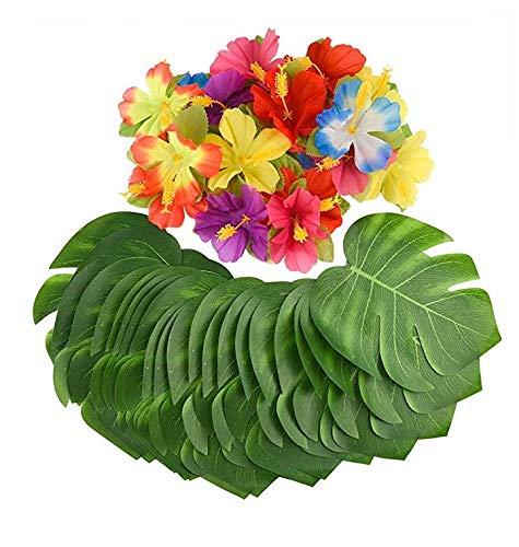 (Keyond 60 Pcs Tropical Party Decoration Supplies 8
