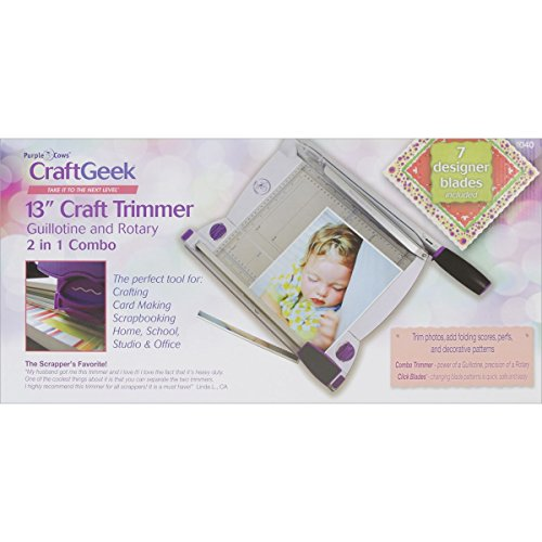 Purple Cows 12-Inch Two-In-One Scrapbook Combo Trimmer One Paper Cutter