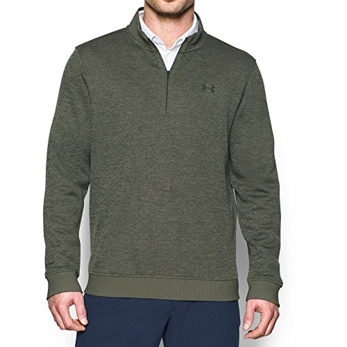 Under Armour Men's Storm SweaterFleece ¼ Zip Long Sleeve Golf Pullover, (330)/Downtown Green, X-Large (Under Armour Mens Qualifier 1 4 Zip)