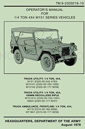 US Army Jeep Technical Manual M151 M151A1 M151A2 Parts for sale  Delivered anywhere in USA