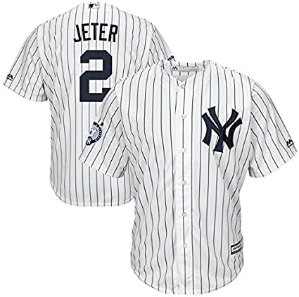 Majestic Derek Jeter # 2 New York Yankees Cool Base MLB Camiseta/W Retirement Patch: Amazon.es: Deportes y aire libre