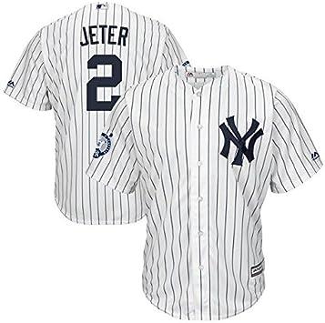 Majestic Derek Jeter # 2 New York Yankees Cool Base MLB Camiseta/W Retirement Patch: Amazon.es: Deportes y aire libre