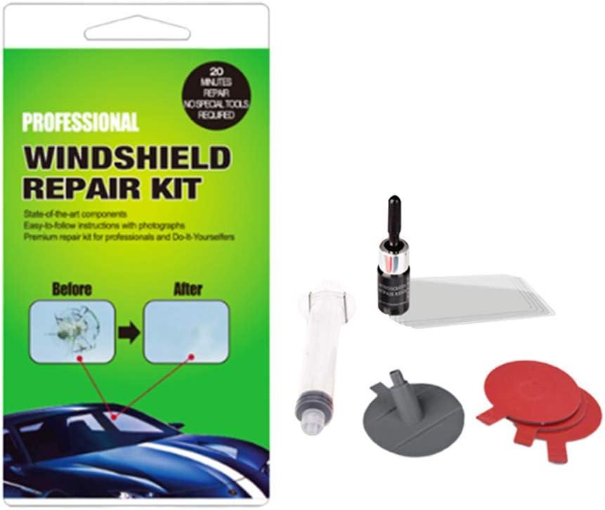 Set di Riparazione Vetro per portiera del Veicolo Verde Kit di Riparazione per Parabrezza Auto Fai da Te Putuio