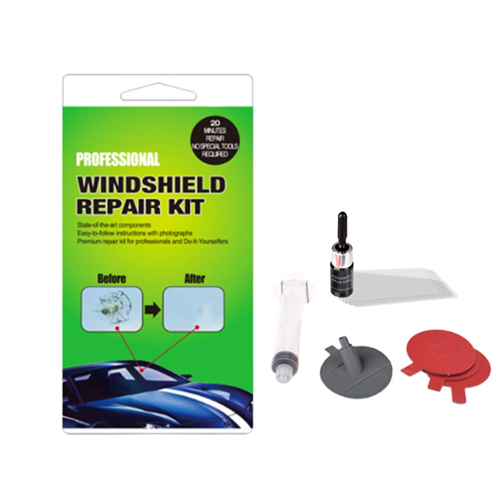 Windshield Crack Repair Kit New Upgraded Version Eco-Friendly Car Window Repair Car Windshield Repair Kit Protective Decorative Stickers on Door Handles Gizayen DIY Car Windshield Repair Tool Kit