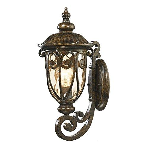 Logansport Collection 1 Light Outdoor Sconce, Hazelnut Bronze (Bronze Sconce Elk Lighting)