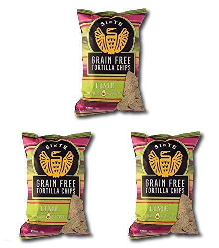 Siete Grain Free Tortilla Chips, Lime, 5 oz. (Pack of 3)