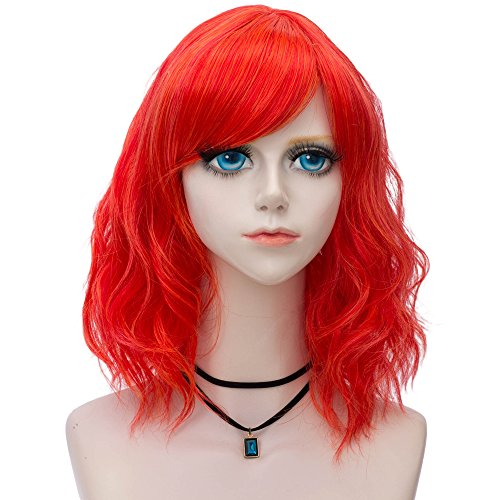 (Probeauty Sweety Collection Lolita 40CM Short Curly Women Lolita Anime Cosplay Wig + Wig Cap)