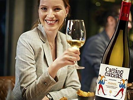 CAMINO DE CABRAS Estuche de vino – Ribeiro D.O. Ribeiro + Albariño D.O. Rias Baixas Vino blanco – Producto Gourmet - Vino para regalar - 2 botellas x 750 ml.