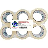 Thick (2.6 Mil) Double Bond Commercial Grade Heavy Duty Packing Tape, 1.88 Inch Width x 54.6 Yards Length (48mm x 50m), 6-Pack, Clear (7026)