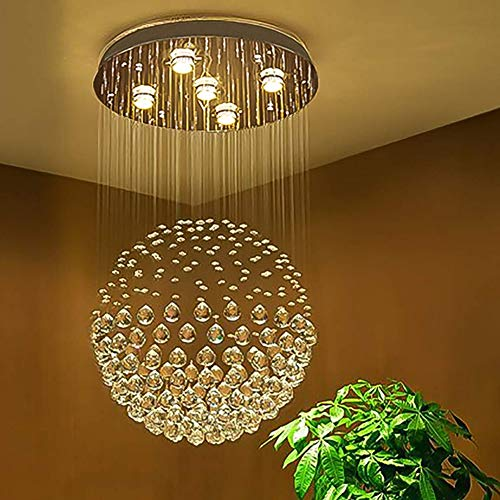 Ball Shape K9 Raindrop Ceiling Light Modern Crystal Chandelier