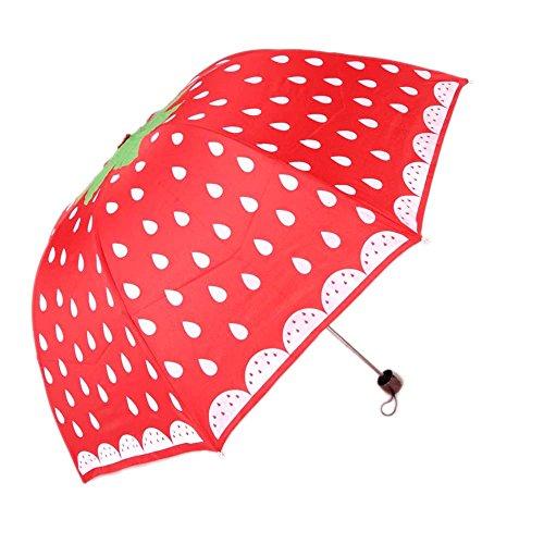 Riverer Strawberry Pattern Folding Umbrella product image