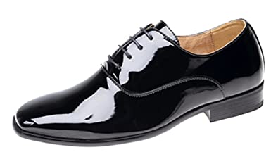 77b3db9a882 Junior Boys Smart Wedding Shoes Ballroom Formal. Patent Finish   Amazon.co.uk  Shoes   Bags