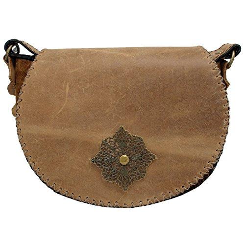 Koson Leather, Borsa a tracolla donna unisex adulti
