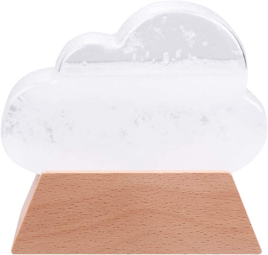 BESPORTBLE Storm Glass Cloud Shape Weather Storm Forecast Predictor for Home Office Table Decor Wedding Valentines Day Gifts