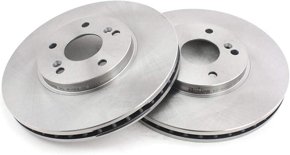 VIOJI 2pcs Front Grey Cast Iron Brake Disc Rotors for Acura 2001-2003 CL 2001-2006 MDX 1999-2008 TL 2004-2008 TSX /& Honda 2003-2012 Accord 1999-2004 Odyssey 2003-2008 Pilot