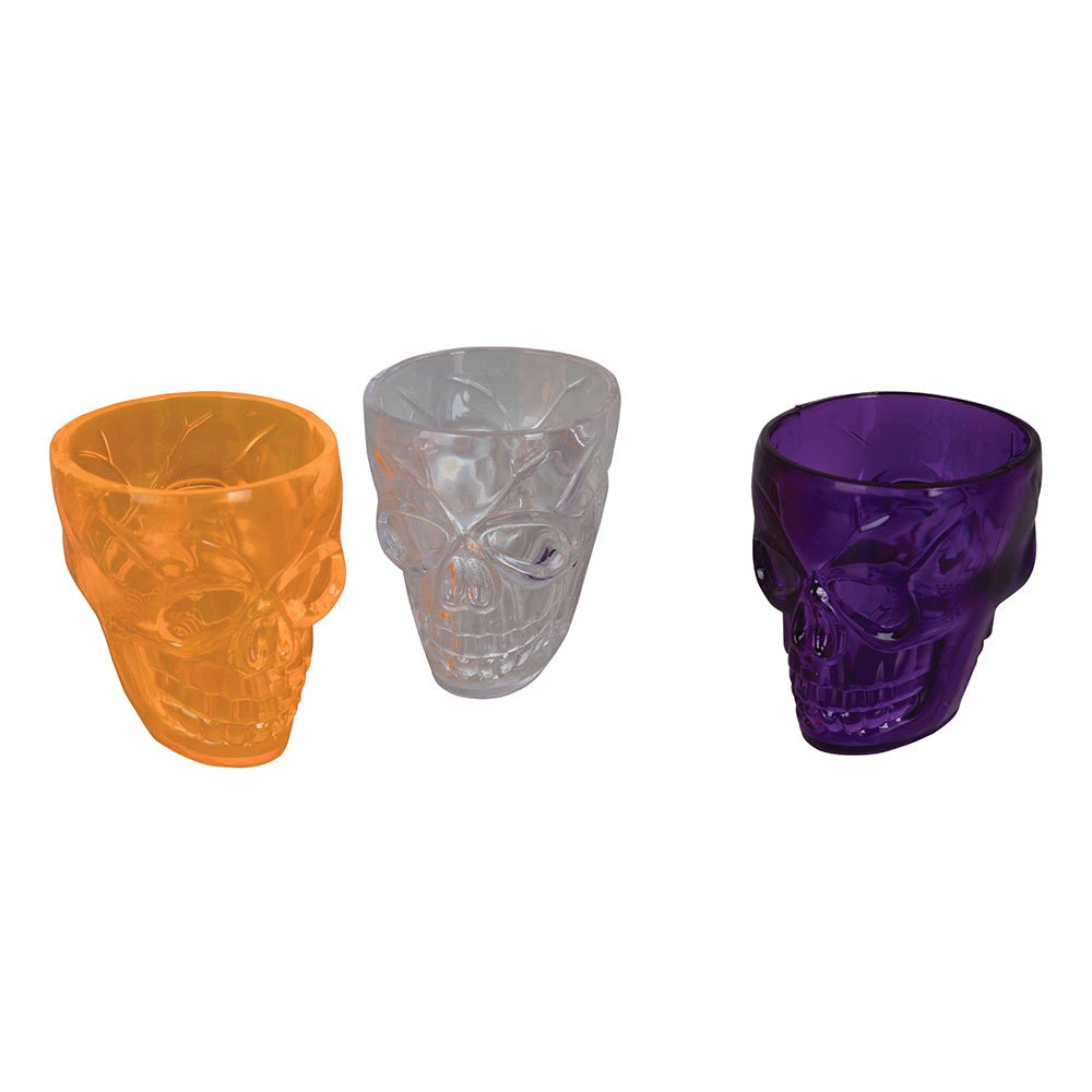 Bristol Novelty HI368 Skull Shot Glasses, Multi-Colour, One Size