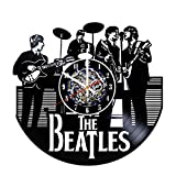 The Beatles Band Design Wall Clock Made From Used Vinyl Record – Get unique room wall decor – Gift ideas for adults and youth – Unique Music Fan Art Review