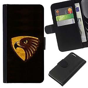 A-type (Enfriar Negro Marrón Gold Eagle) Colorida Impresión Funda Cuero Monedero Caja Bolsa Cubierta Caja Piel Card Slots Para Apple iPhone 5C