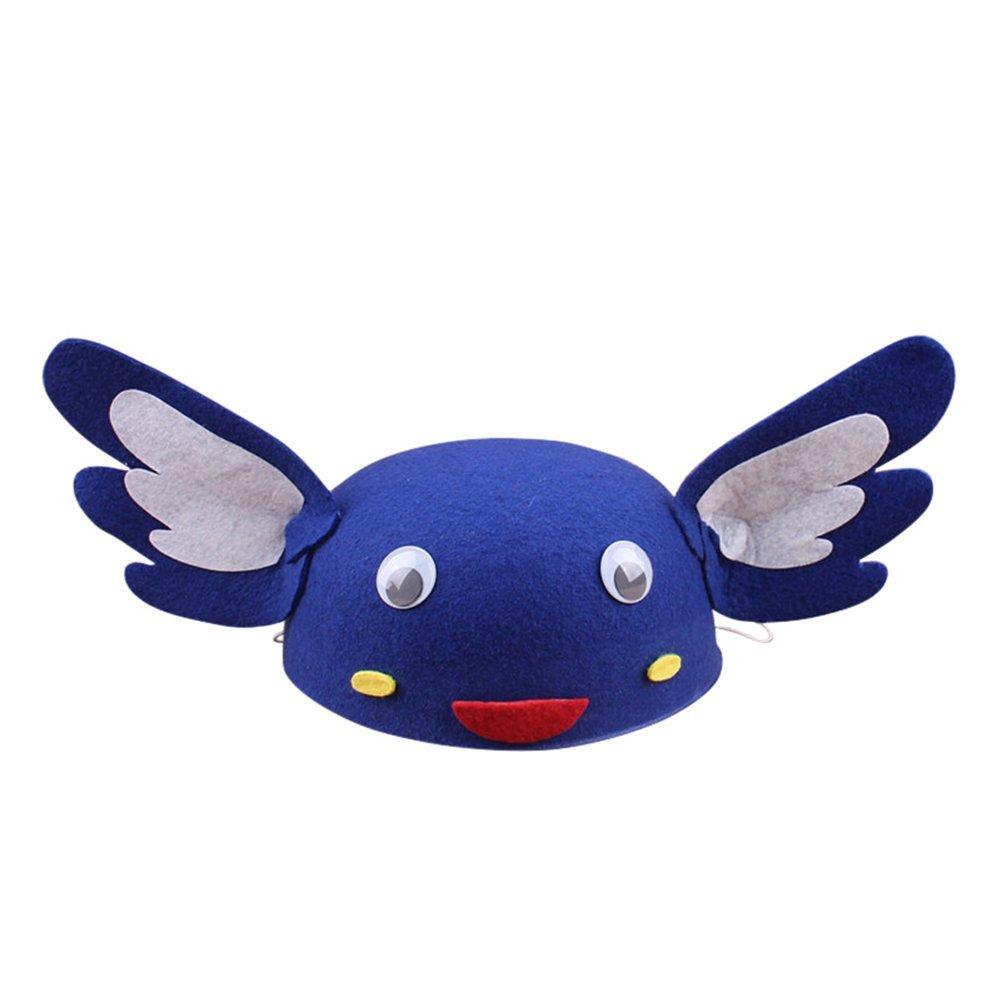 Remeehi Cartoon Animal Children Hats Kindergarten Role-playing Children Theater Festival Dressed Head Decoration Big bird