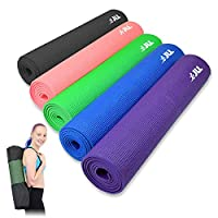 JLL Yoga Mat. 183cm x 61cm (72inch x 24inch), 6mm Thick Exercise Fitness Workout, Mat Physio Pilates Camping Gym.