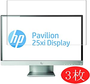 """【3 Pack】 Synvy Screen Protector for HP Pavilion 25xi 25"""" Display Monitor TPU Flexible HD Clear Case-Friendly Film Protective Protectors [Not Tempered Glass] New Version"""
