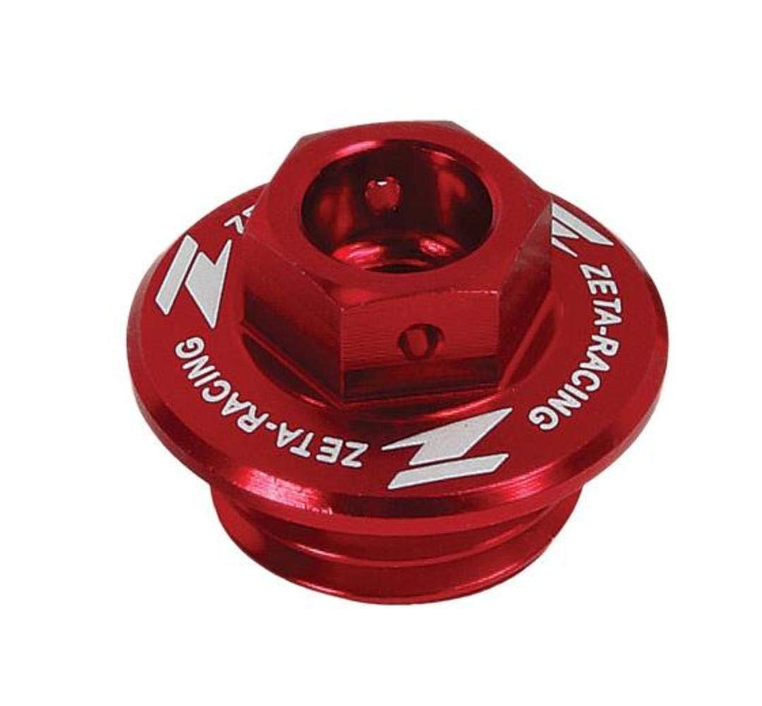 ZETA Anodized RED Oil Filler Plug YZ YZF 97-13, CR CRF 90-13, TRX450R 04-09