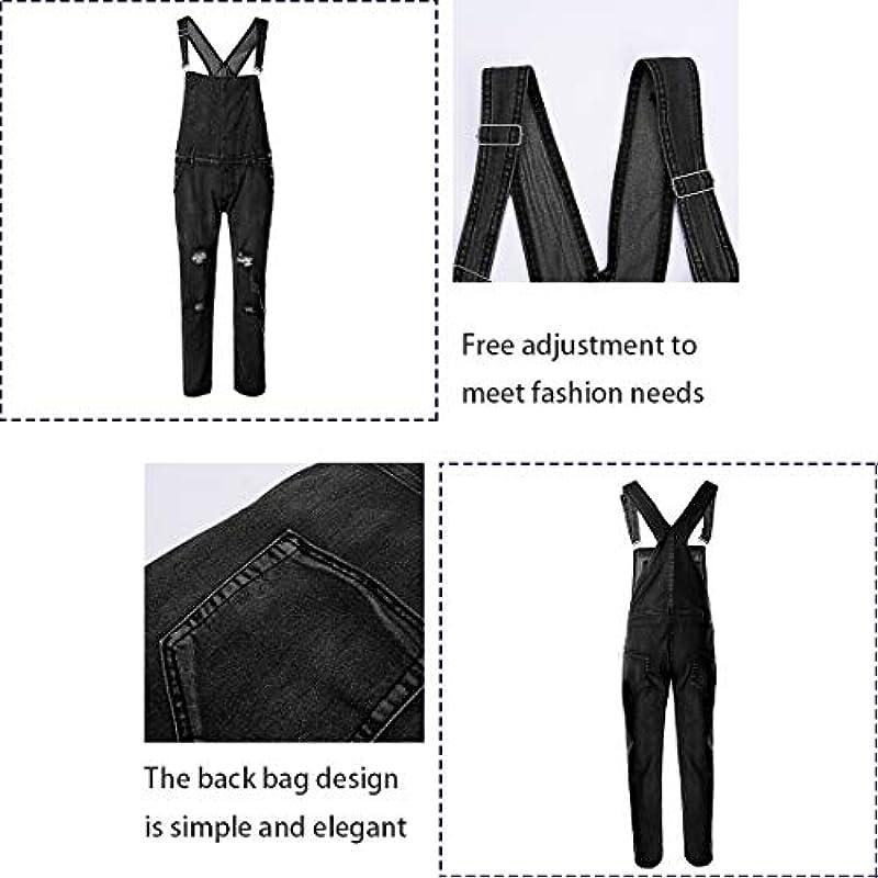 Sin Męskie dżinsy spodnie ogrodniczki długie spodnie dżinsowe retro Denim Overalls Skinny Fit Streetwear Stone-Washed rozrywanie spodnie robocze Jumpsuit: Shujin: Odzież