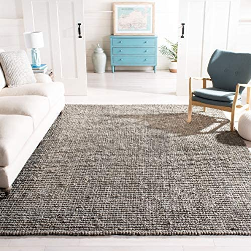 Safavieh Natural Fiber Collection NF447G Hand Woven Light Grey Jute Area Rug 9' x 12'