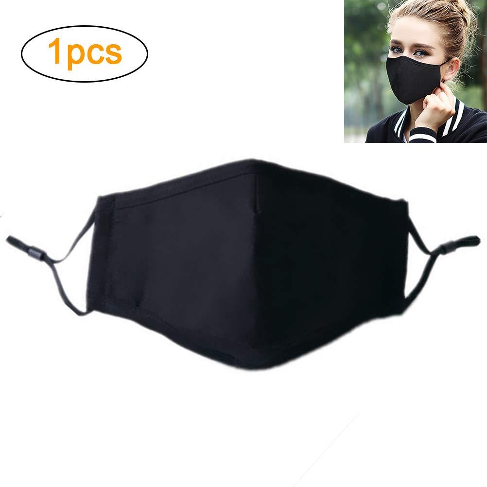 Holspe Máscara bucal de algodón PM2.5, máscara N95 con Filtro de carbón Activado Máscaras Ajustables a Prueba de Viento Reutilizables, Lavables