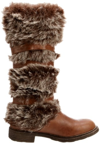 Head Tan Trimmed Boots Saskia Heels Over Women's Fur qUfqT86w