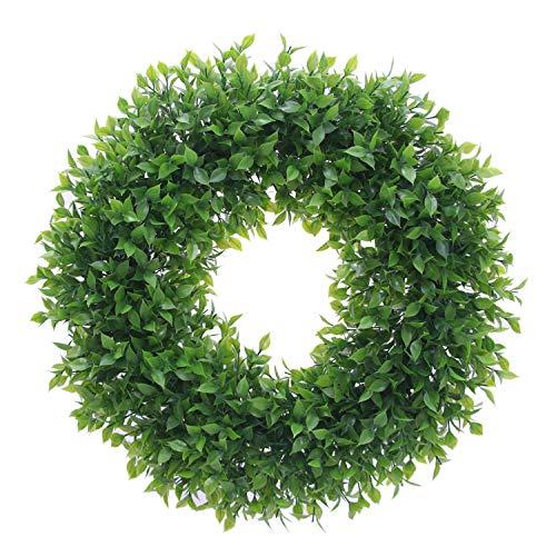 Homcomoda Artificial Green Leaves Wreath 20
