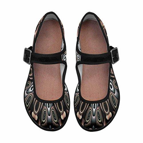 Womens InterestPrint Shoes Casual 2 Jane Flats Comfort Mary Walking Multi ZdxrqSfwdo