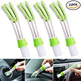 Mini Duster for Car Air Vent,Set of 4 Automotive Air Conditioner Cleaner and Brush, Dust Collector Cleaning Cloth Tool for Keyboard Window Leaves Blinds Shutter (4pcs)