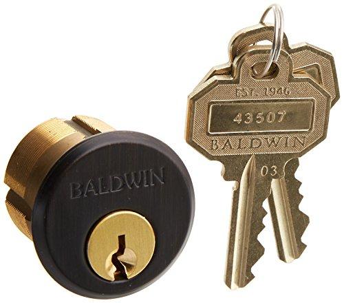 """Baldwin 8322 1-1/8"""" Mortise Cylinder C Keyway, Venetian Bronze"""