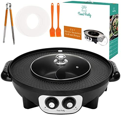 Food Party Electric Smokeless Grill