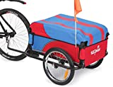 Sepnine The newest Steel Frame Bicycle Bike Cargo cart Luggage Trailer 20301S (Red/Blue)