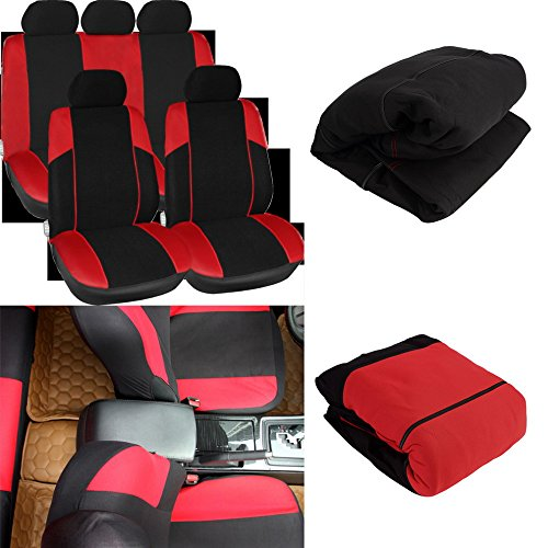 China Clay Suppliers (UltaBuild(TM)New 11pcs Black&Red Car Seat Covers Set Seat Protector Mat Pads Car Care hot selling)