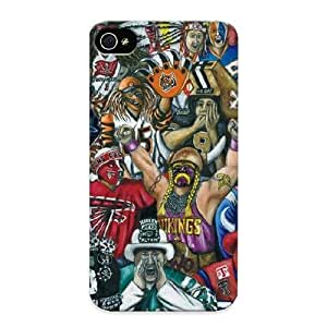 Inthebeauty Brand New Defender Case For Iphone 4/4s (nfl Fans) / Christmas's Gift
