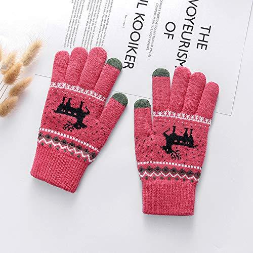 Bllomsem Navidad Guantes De punto Guantes T/érmicos Manoplas Dos dedos Pantalla T/áctil Gloves Invierno Calentar Guantes Regalo de Navidad para Hombres y Mujeres para Exteriores Negro