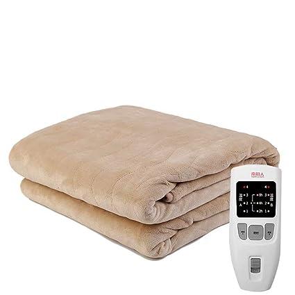 GG-Electric blanket Manta eléctrica Doble Seguridad no radiativa Pinzas eléctricas termostato de Control Dual