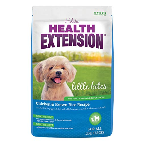 - Health Extension Little Bites Dry Dog Food - Chicken and Brown Rice Recipe