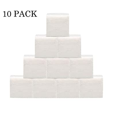 (In Stock) 3-Ply Paper Towel, White Tissues Paper, 10 Pack Hand Towels,Facial Ultra Soft Toilet Paper Wood Household and Commercial Toilet Paper (10 Pack): Kitchen & Dining