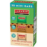 Larabar Minis Gluten Free Bar Variety Pack, Apple Pie, Peanut Butter & Peanut Butter Chocolate Chip Cookie, 0.78 oz Bars (30 Count)