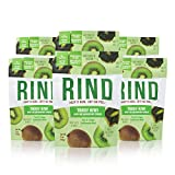 RIND Snacks Tangy Kiwi Peel-Powered Dried Superfruit, No Sulfites, No Added Sugar, High Fiber, Antioxidant-Rich, Non-GMO, Gluten-Free, Vegan, 3oz, Pack of 6