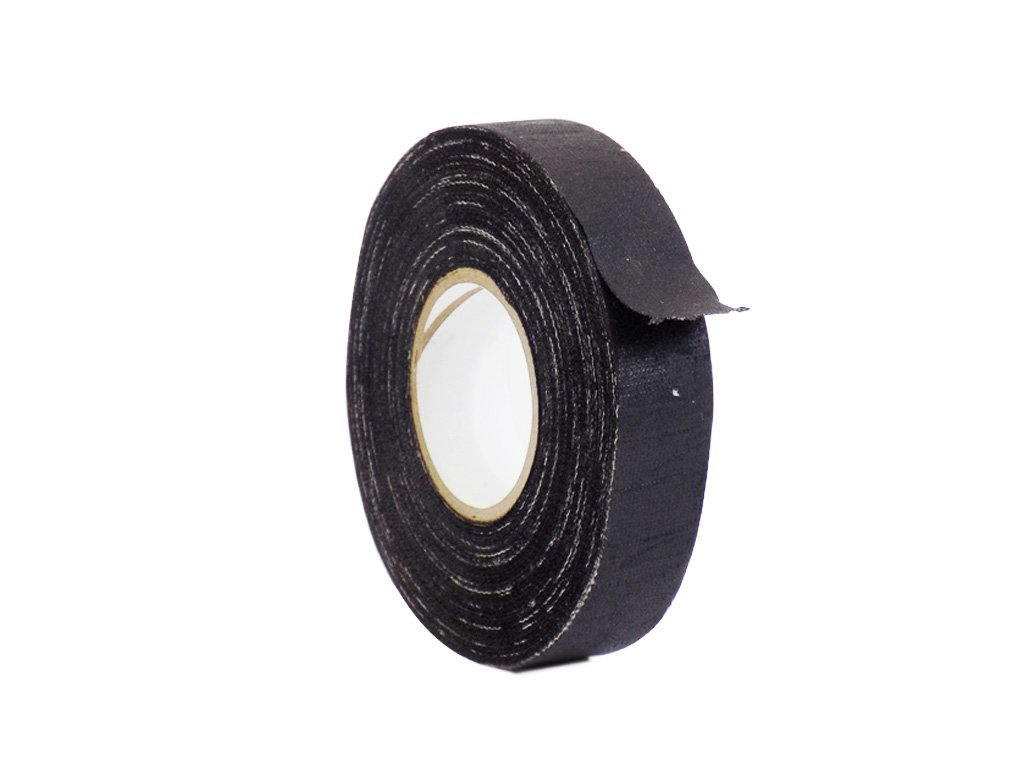 WOD CFT-15 Black Cotton Industrial and Electrical Harness Wiring Friction Tape, High Adhesion Level, Humidity Resistant (Available in Multiple Sizes): 1.5 in. Wide X 60 Yards (Pack of 50)