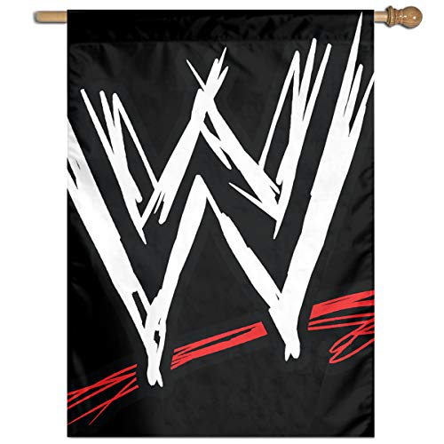 Bdna WWE Logo Garden Flag One Size Yard Flags for Holiday Party Indoor Outdoor Home Decorative -