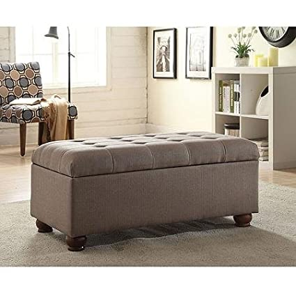 Cool Amazon Com Fabric Tufted 40 Storage Bench With Turned Ncnpc Chair Design For Home Ncnpcorg