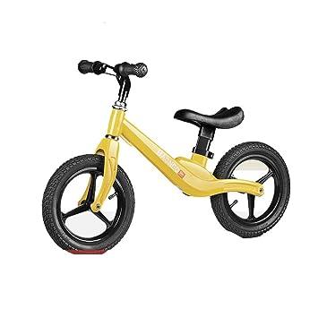 WU ZHI Coche De Equilibrio para Niños Sin Pedal Pedal Bicicleta Deslizante Niños Andador Dos Ruedas Bicicleta para Niños Pequeños De 2 A 4 Años,Yellow: ...
