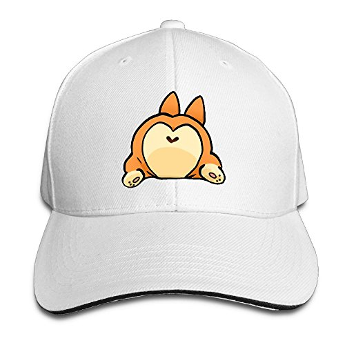 JimHappy KARIMEW Corgi Love-Butt Cartoon Trucker Cap Durable Baseball Cap Hats Adjustable Peaked Sandwich Cap]()