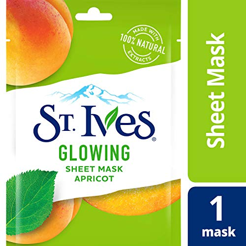 St. Ives Skin Care Sheet Mask, Glow Apricot, 6 (Oatmeal Face Cleanser)